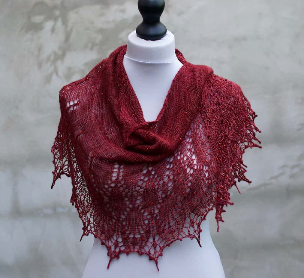 red lace shawl for sale