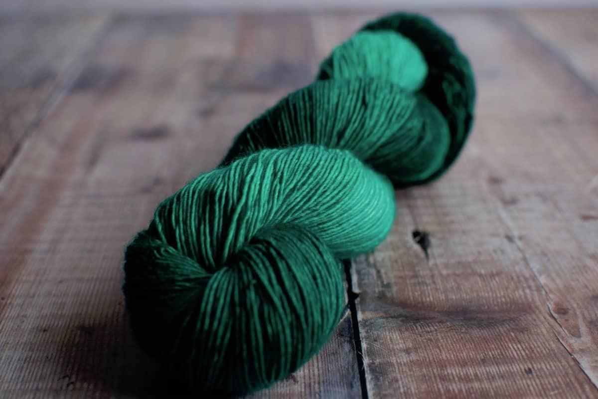 green wool sock yarn