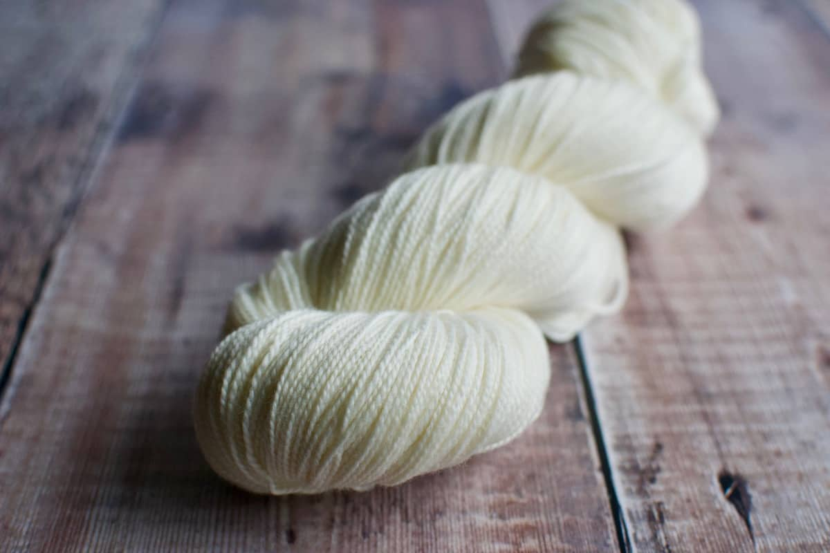 Merino Nylon Sock yarn undyed eleanor shadow