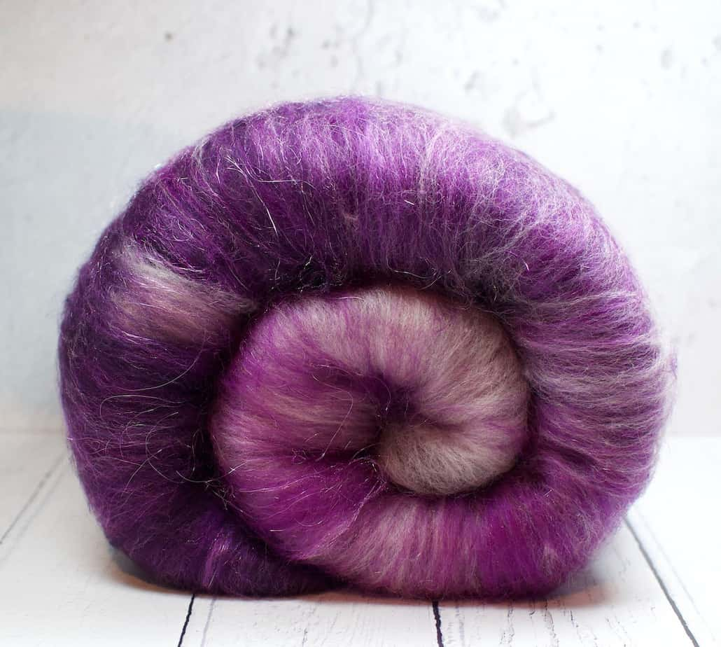 purple carded wool for sale