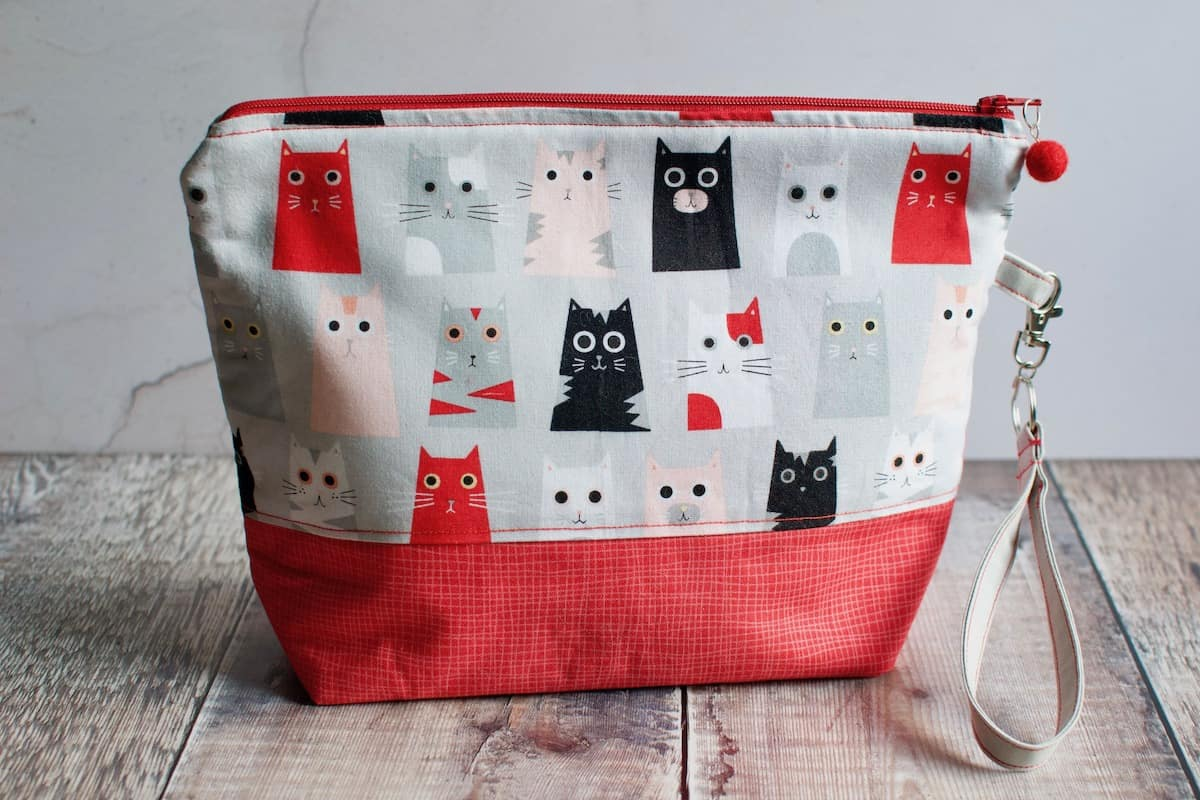 cat themed knitting bags and organisers
