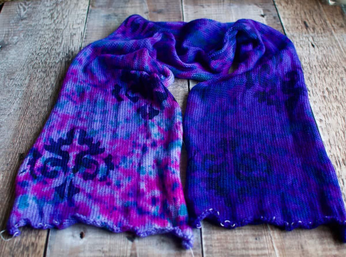 blue purple sock blanks for sale