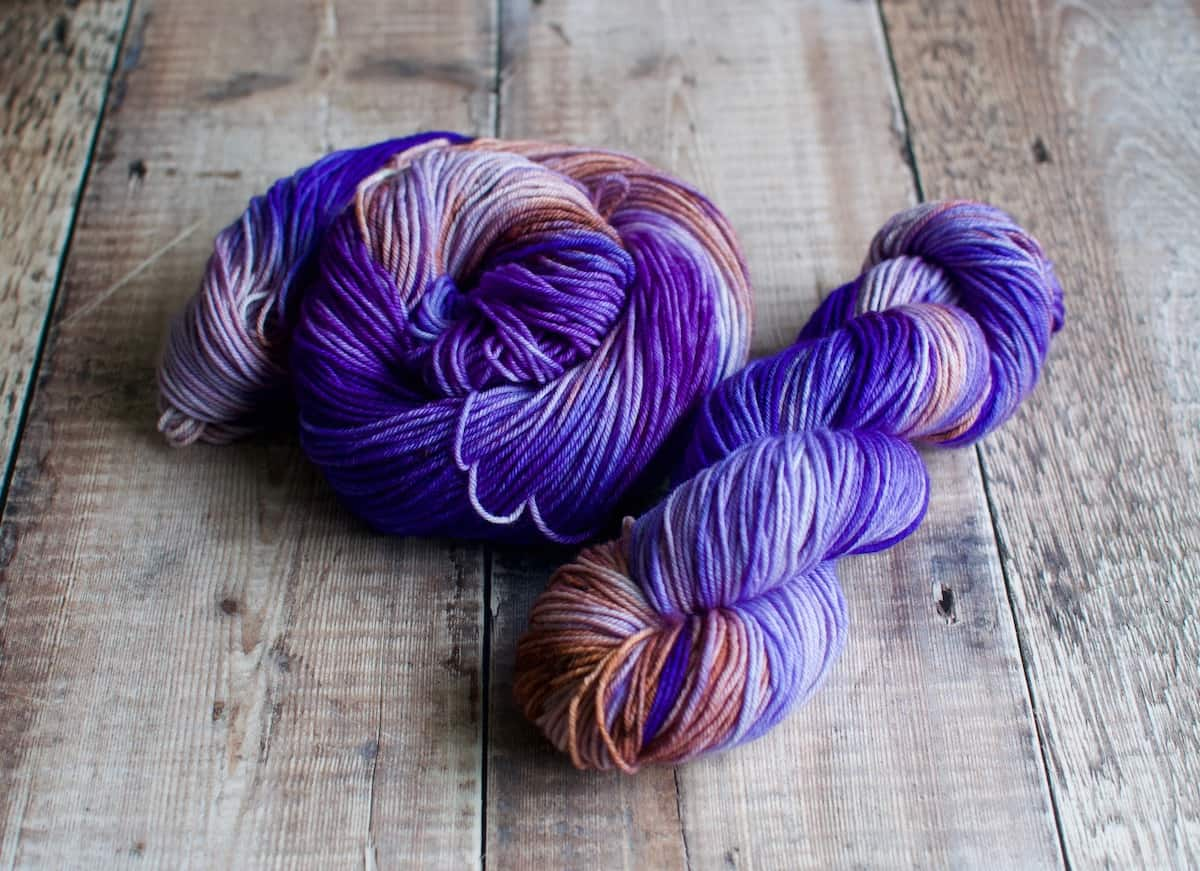 sea anemone double knit designer yarn