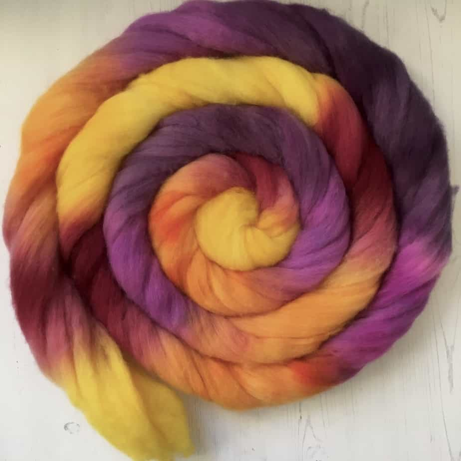 Ice Lolly wool top for spinning or felting