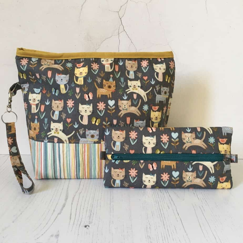 Project bag and notions bag by Eleanor Shadow – Cattitude Collection 2020