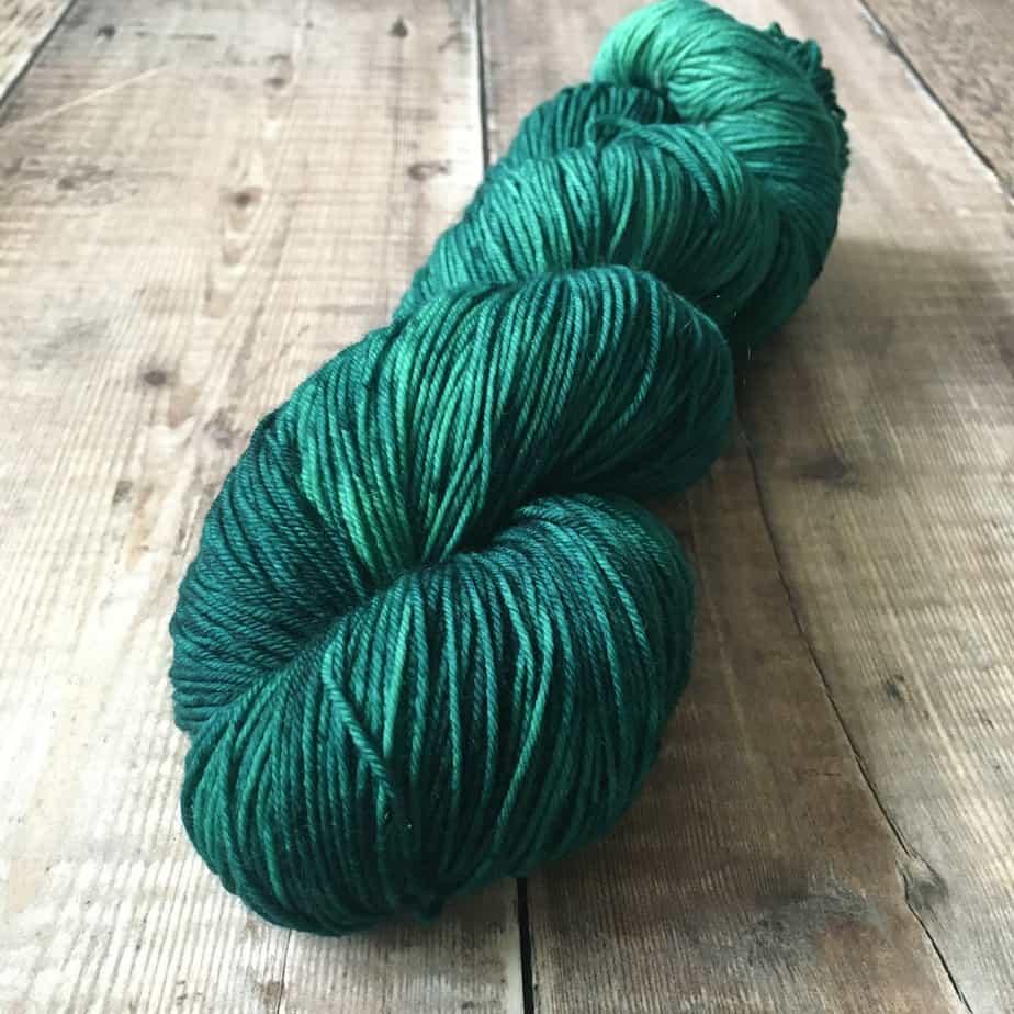 Cattitude Collection sock yarn – green semi solid yarn – fingering weight yarn by Eleanor Shadow