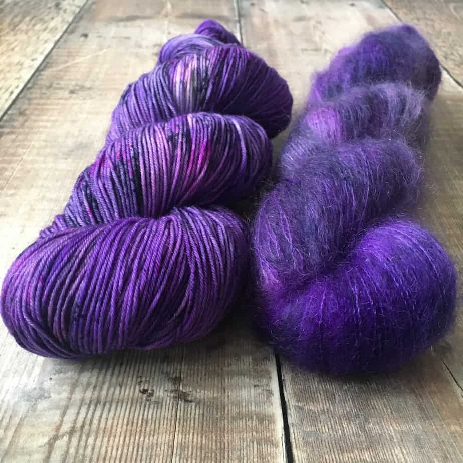 Sock yarn, lace yarn – Who Broke This? – violet yarn for knitting, crochet – hand dyed in Scotland – by Eleanor Shadow
