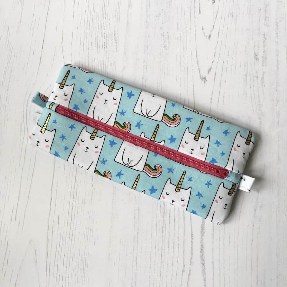 Cat unicorn notions bag for knitting and crochet