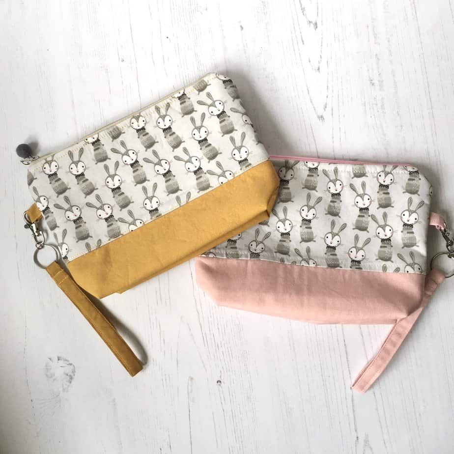Project bags for knitting or crochet – toiletry bags – handmade bags, size small, storage bags for crafts