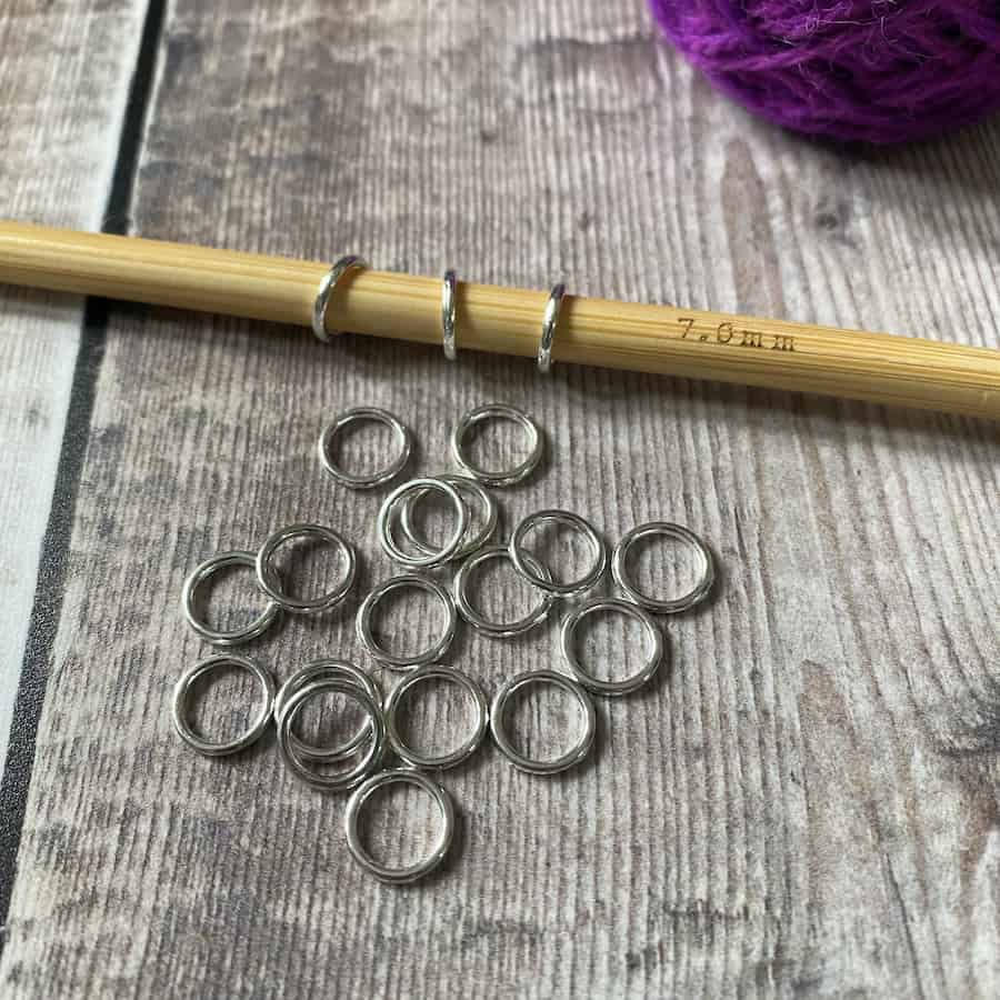 snag free ring knitting markers by Eleanor Shadow – for sale UK